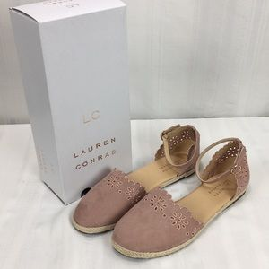 Lauren Conrad Bubblegum Espadrille Flats Shoes New